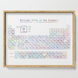 Periodic Table of Elements Serving Tray