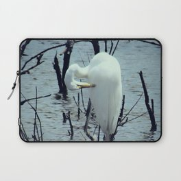 Great Egret in Water A108 Laptop Sleeve