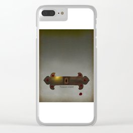 Treasure Island Minimal Poster Clear iPhone Case