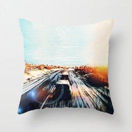 Evaporating Saguaro Sunset Throw Pillow