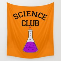 science Wall Tapestries featuring Science Club by DeBUM