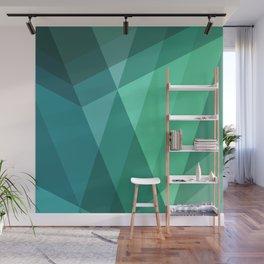 Fig. 046 Mint, Sea Green, Blue & Teal Geometric Wall Mural