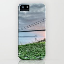 Sunset at the Humber Bridge iPhone Case