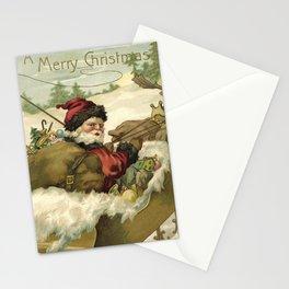 Vintage Santa Retro X-mas Illustration Stationery Cards