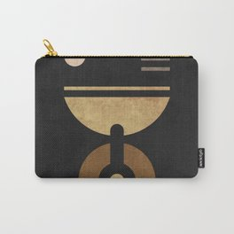 Alchemical Escapades - Black 01 - Contemporary Minimalist Abstract Carry-All Pouch