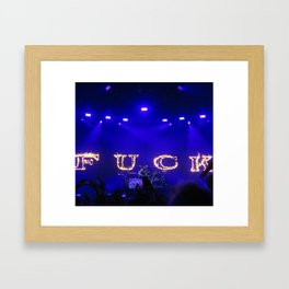 Cause I fell in love with a girl at the rock show Framed Art Print