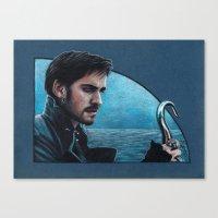 captain hook Canvas Prints featuring Captain Hook by Svenja Gosen