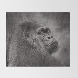Gorilla. Silverback. BN Throw Blanket