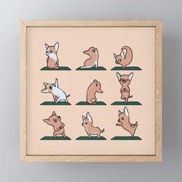 Chihuahua Yoga Framed Mini Art Print