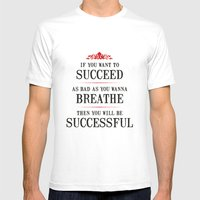 How bad do you want to be successful - Motivational poster MEDIUM White Mens Fitted Tee