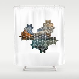 Rhombus Shower Curtain