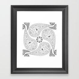 Black & White Coordination Framed Art Print