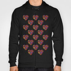Rainbow Heart Pattern Hoody