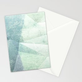 Frozen Geometry - Teal & Turquoise Stationery Cards