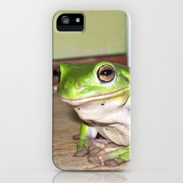 Freddy frog waiting for dinner iPhone Case