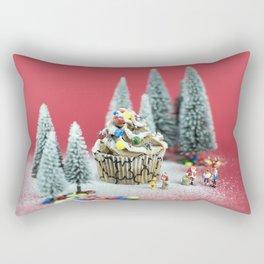 Christmas cupcake Rectangular Pillow