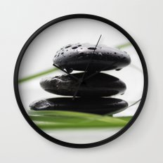 spa stones Wall Clock
