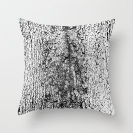 tree crotch in black and white Throw Pillow