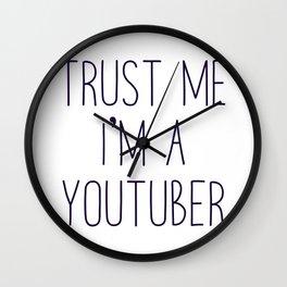 Trust me I'm a youtuber Wall Clock