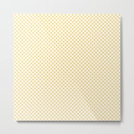 Lemon Drop Polka Dots Metal Print