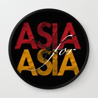 asia Wall Clocks featuring Asia for Asia by Park is Park