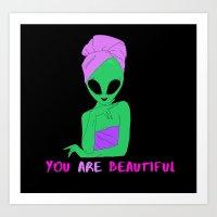 beautiful alien Art Print