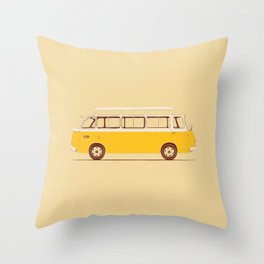 Yellow Van II Throw Pillow