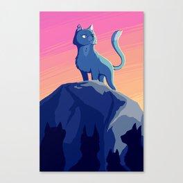 A Blue Leader Canvas Print