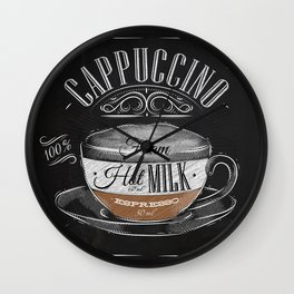 Coffee cappuccino chalk Wall Clock