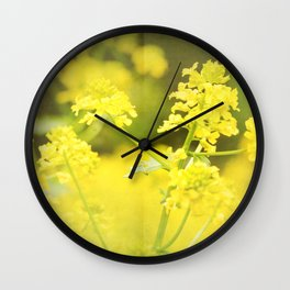 Floral Page Wall Clock