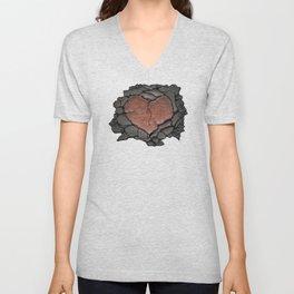 Cracked Soul (Red Heart) Unisex V-Neck