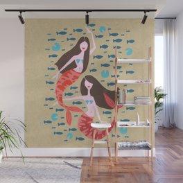 Mermaids on Kraft Wall Mural