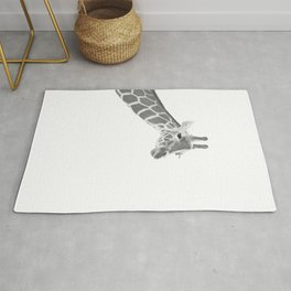 Giraffe Black & White Dream #1 #dreamy #decor #art #society6 Rug