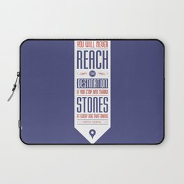Lab No. 4 - Never reach destination winston churchill's Quotes Poster Laptop Sleeve