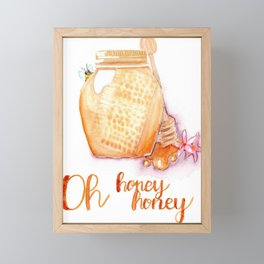 Oh honey, honey Framed Mini Art Print