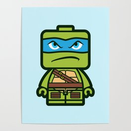 Chibi Leonardo Ninja Turtle Poster