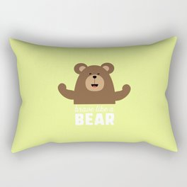 Brave like a Bear T-Shirt for all Ages Drjli Rectangular Pillow