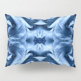 Blue Rose Mandala Pillow Sham