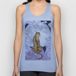 Tiger Moon | Colour Version Unisex Tank Top