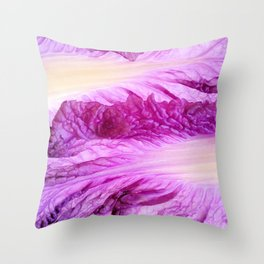 Purple Cabbage Beautiful Abstract Patterns By Nature Throw Pillow