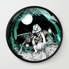 La sirena y el pescador Wall Clock