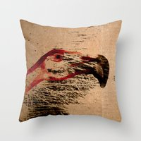 flamingo Throw Pillows featuring Flamingo by Fernando Vieira