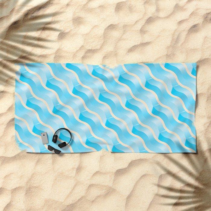 Geometric Vibes: Wisdom Beach Towel
