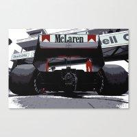 f1 Canvas Prints featuring Mclaren F1 MP4-4 by SABIRO DESIGN