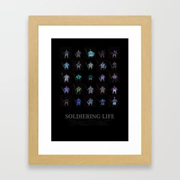 Soldiering Life Framed Art Print