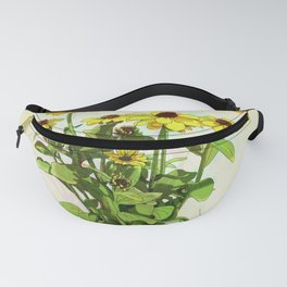 Black Eyed Susan and Her Pollinators Detail 1 TRIPPY Fanny Pack
