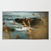 west coast Area & Throw Rugs featuring West Coast Oceans by Amy J Smith Photography
