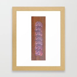 Calico-Sienna Framed Art Print