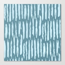 Vertical Dash Turquoise on Teal Blue Canvas Print