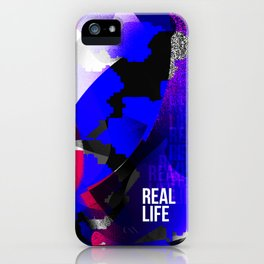 Graphic interpretation of the music Real Life by Kimbra iPhone Case